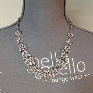 International Concepts Silver Tone Lilac Necklace
